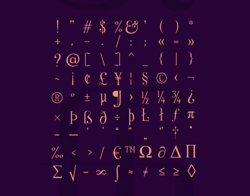 Nerea, la tipografía vestida de Art Noveau