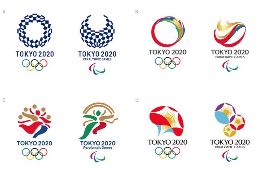 Las 4 propuestas finalistas para el logo de Tokio 2020
