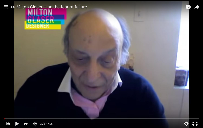 Interesante reflexión de Milton Glaser sobre el miedo al fracaso