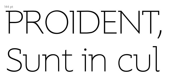 Supra Thin Demiserif, una tipografía 'medio serif', por Gert Wiescher