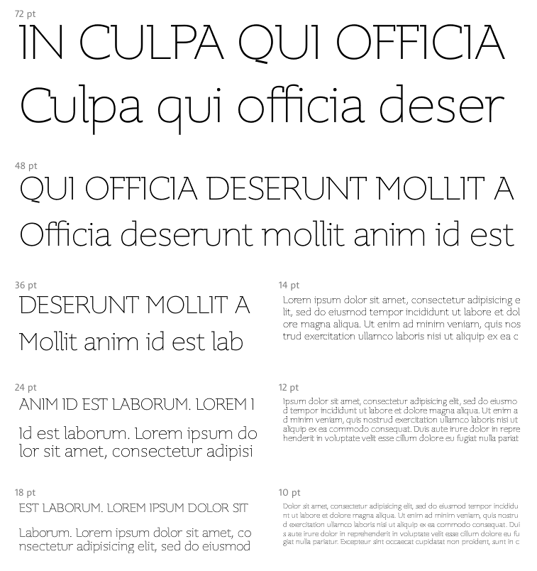 La gratuita Supra Thin Demiserif perfecta para texto largo