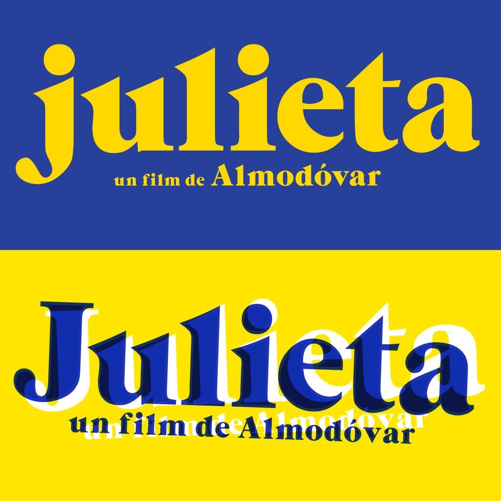 Diseño del cartel de la película de POedro Almodóvar, julieta por Pedro Almodóvar