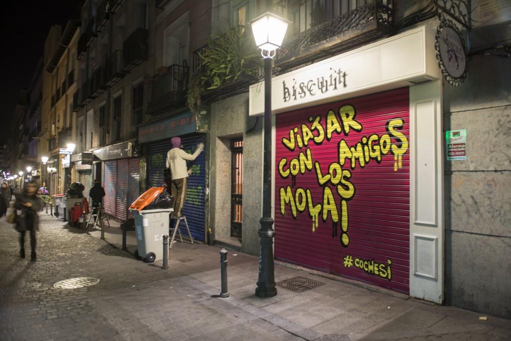 #Paraquequieresuncoche, el grafiti como estrategia de comunicación