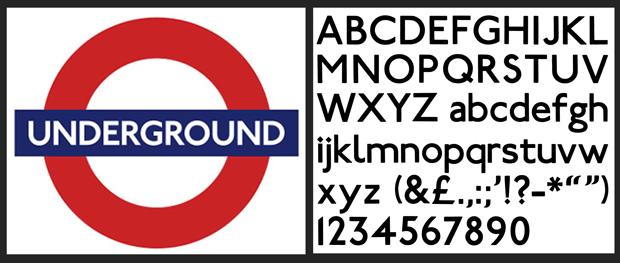 Una exposición celebra los 100 años de la famosa tipografía del metro de Londres