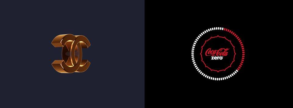 Chanel y Coca Cola en motion graphic, por Ion Lucin