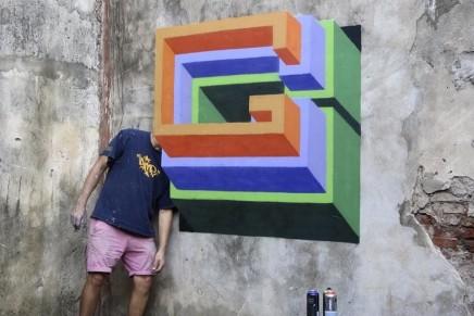 Grafitis de Nase Pop: tipografía, volumen y color