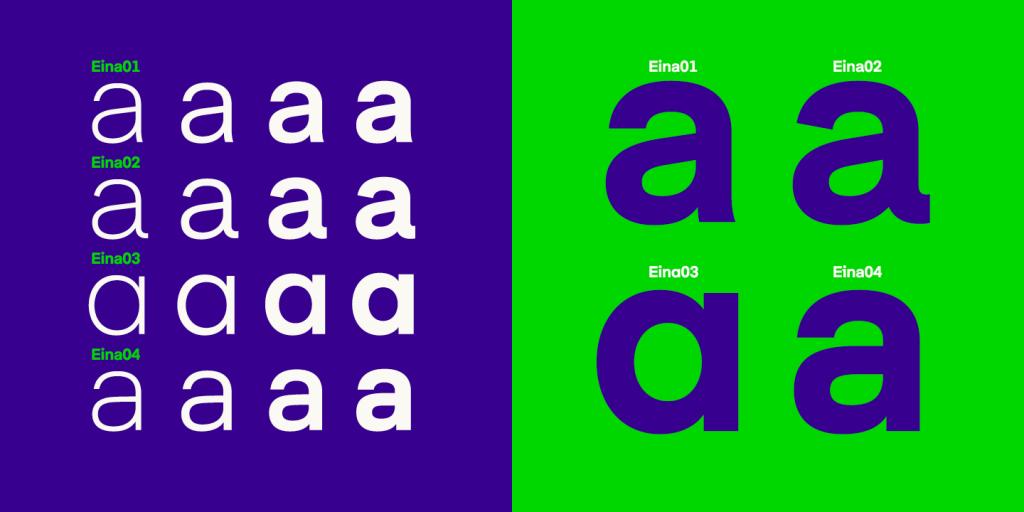 Tipografía Eina, cuatro matices de un estándar tipográfico