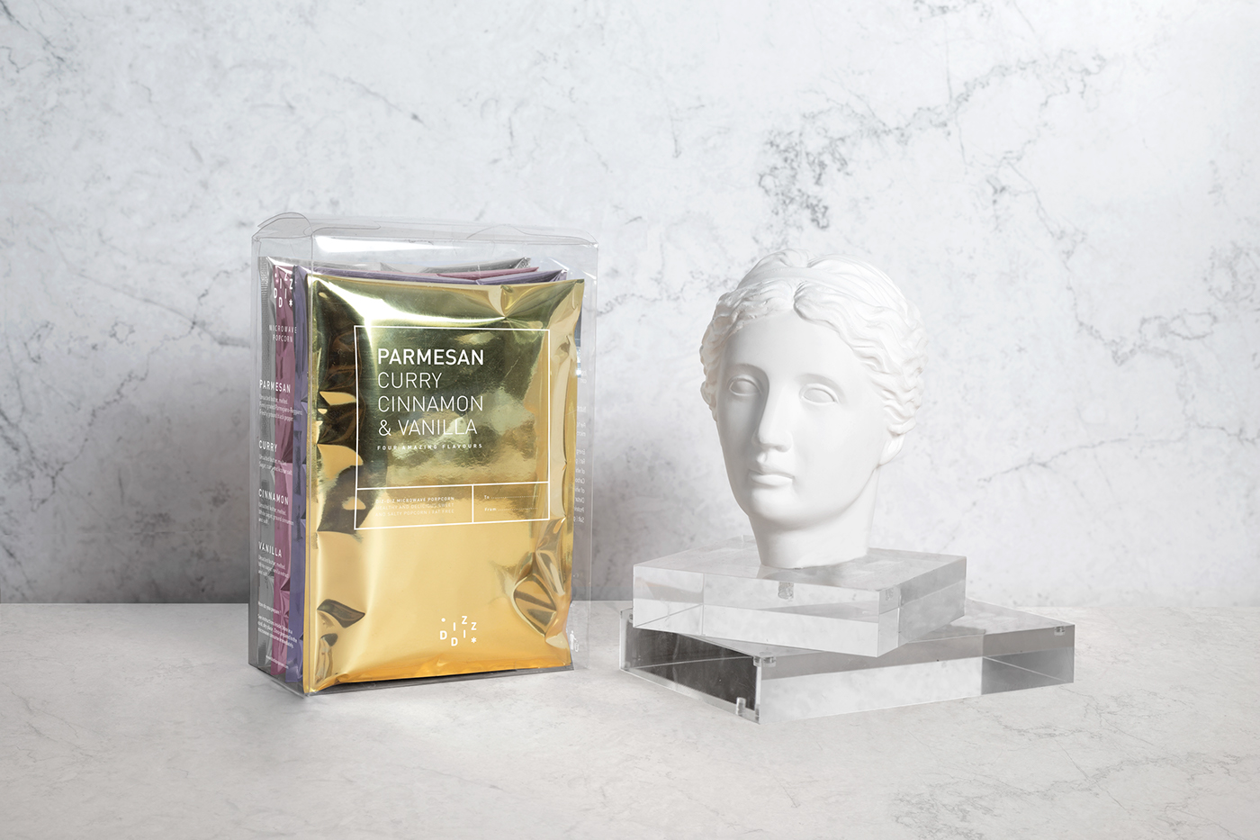 packaging con busto