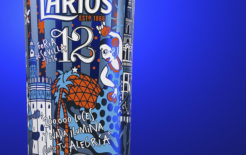 Larios 12: los Patios de Córdoba y la Feria de abril de Sevilla en formato packaging