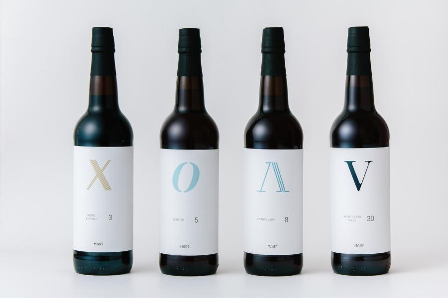 La tipografía como protagonista en las etiquetas de vino de Mar7