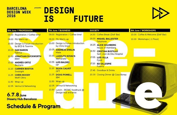 Design is future programa 2016