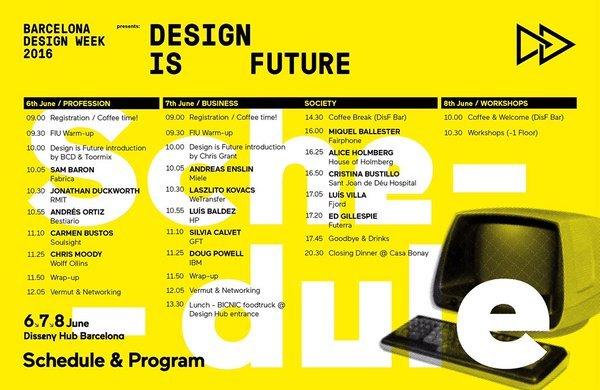 Design is future programa 2016