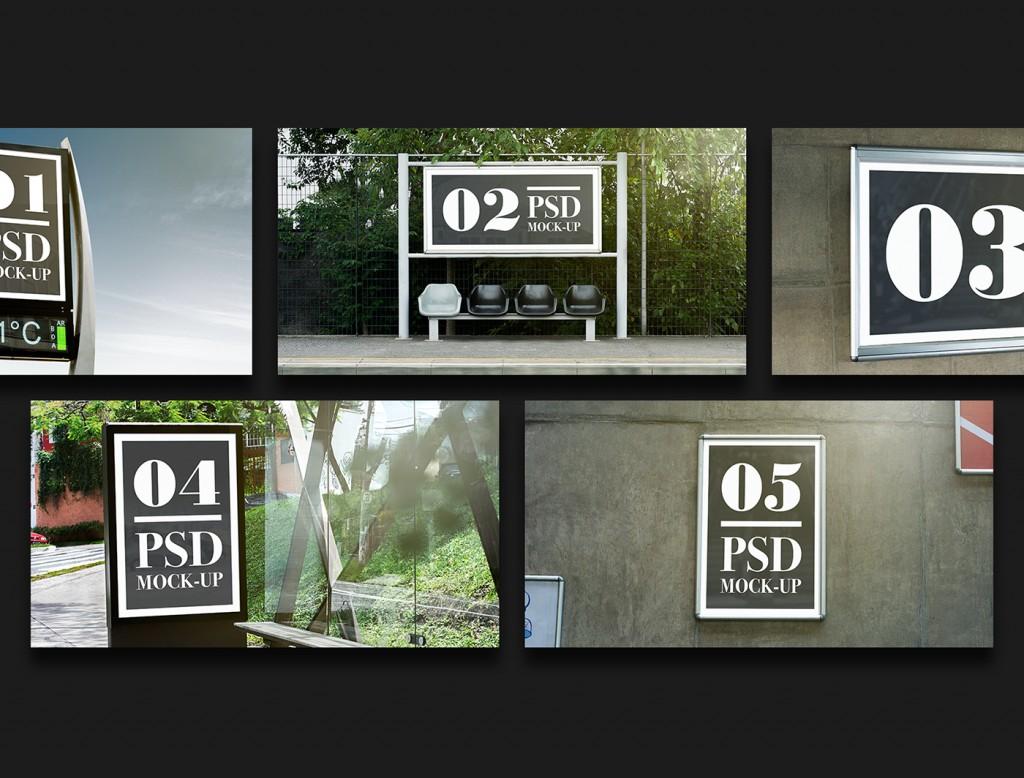 Mock up de publicidad exterior de descarga gratuita -1