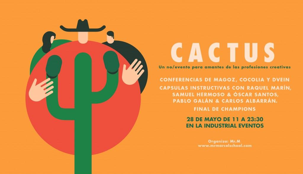 'no/evento' dirigido a los amantes de las disciplinas creativas: 'Cactus'.