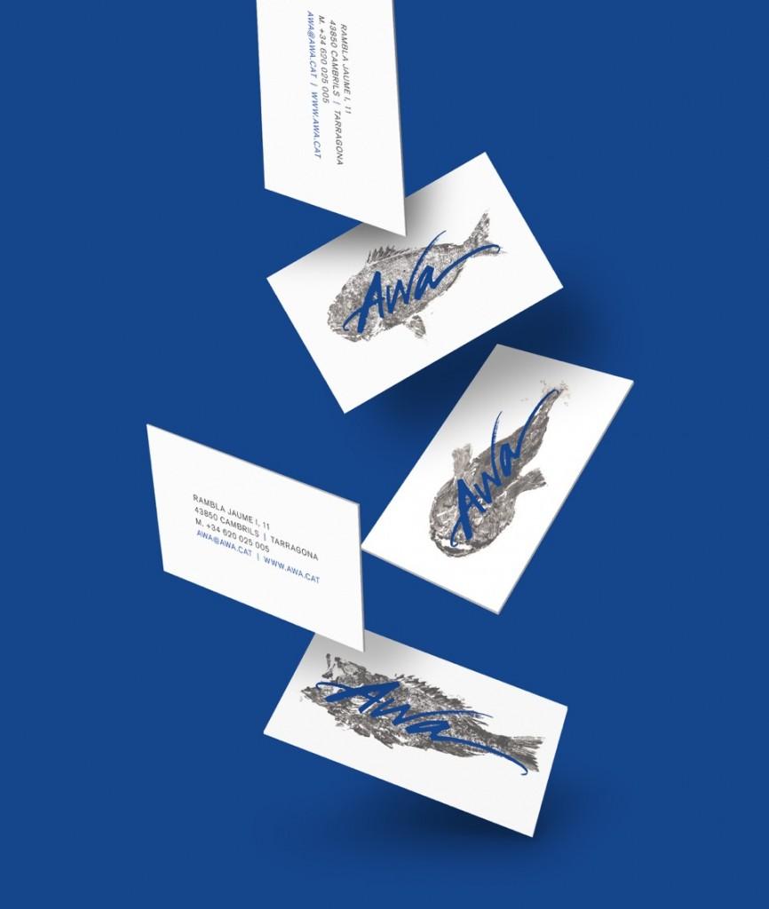 Tarjetas ilustradas con peces impresos con Gyotaku