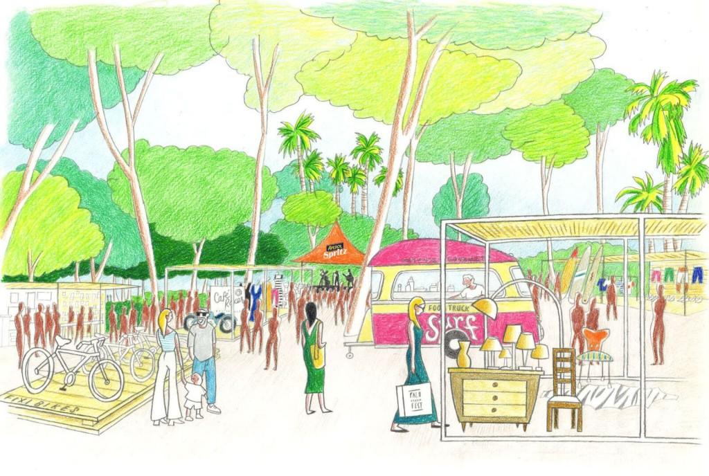 Palo Market Fest: el festival que impulsó Mariscal : ilustración Palo Market Fest Valencia