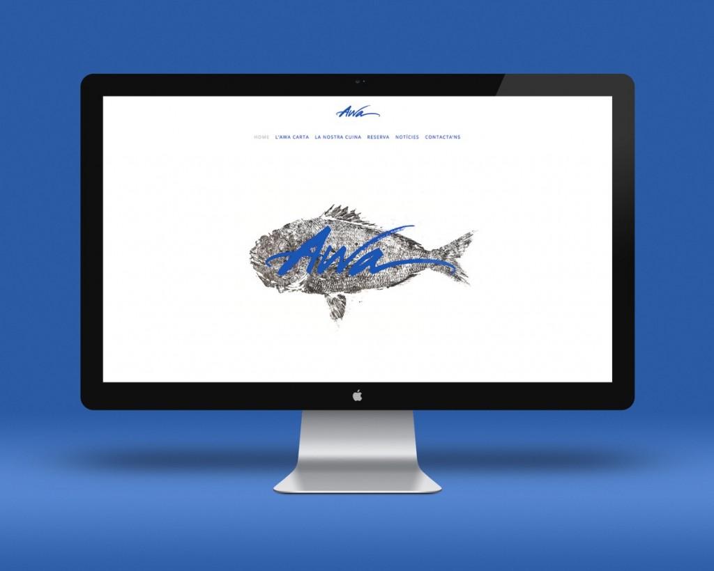 Web con pez impreso con técnica de Gyotaku