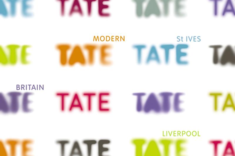 Antiguo logotipo de Tate diseñado por Wolff Olins