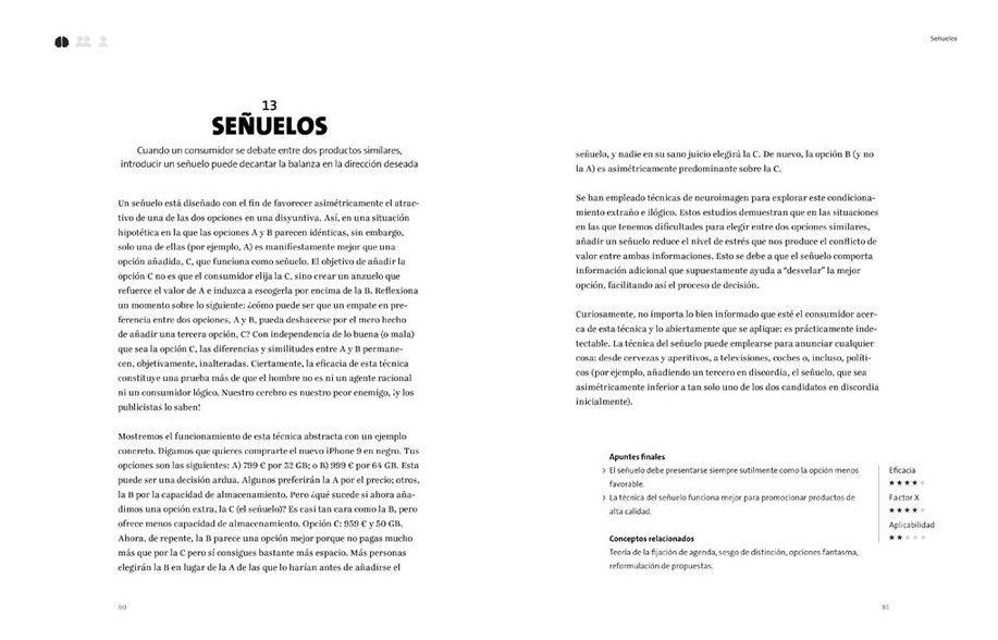 Página interior de Persuasión 33 técnicas publicitarias de influencia psicológica