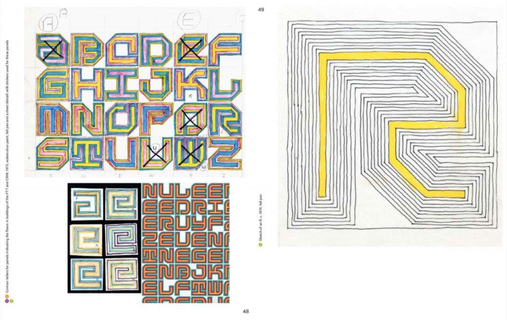 bocetos y dibujos del diseñador holandés Jurriaan Schrofer