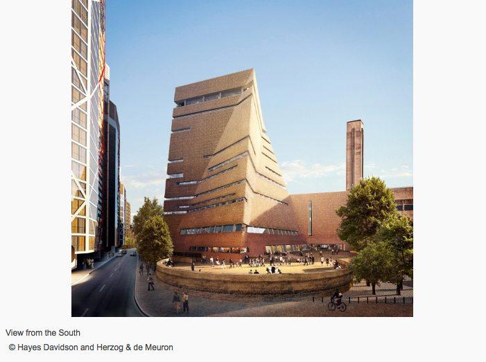 Switch House, la pirámide retorcida que amplía el Tate Modern de Londres - edificio de día