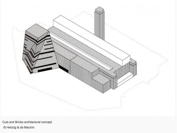 Switch House, la pirámide retorcida que amplía el Tate Modern de Londres - edificio original