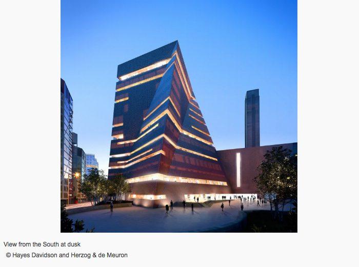 Switch House, la pirámide retorcida que amplía el Tate Modern de Londres - edificio al atardecer