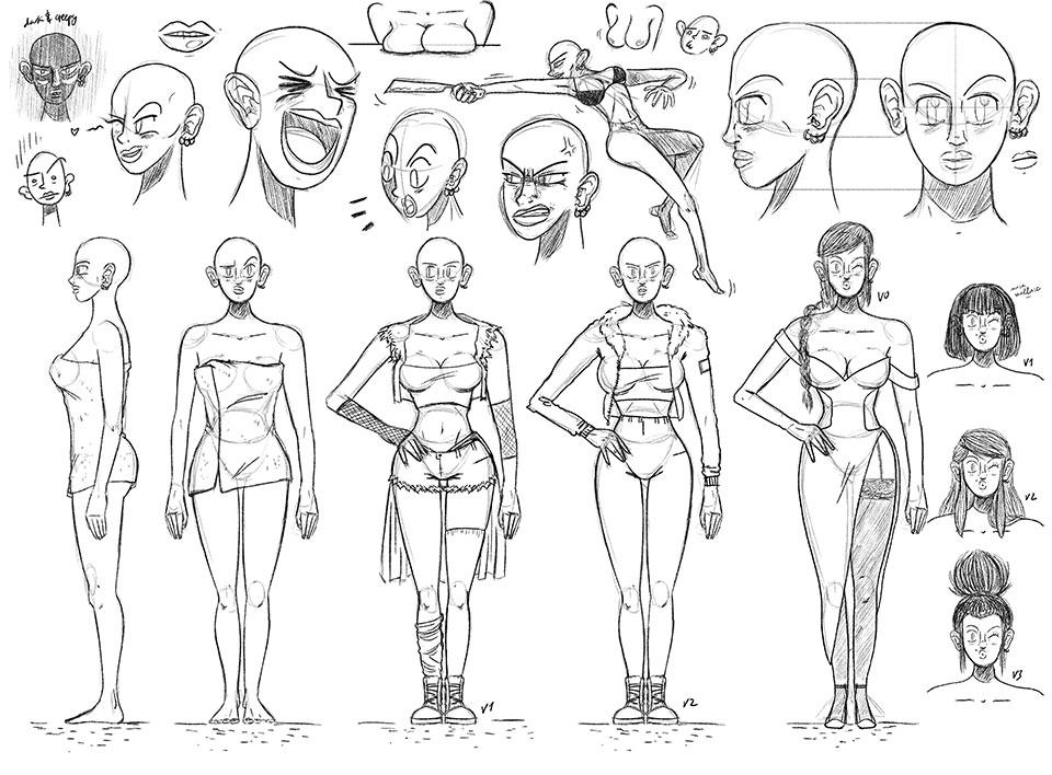 El nuevo modo de leer cómics: HAIR Comic en Instagram - concepto mujer