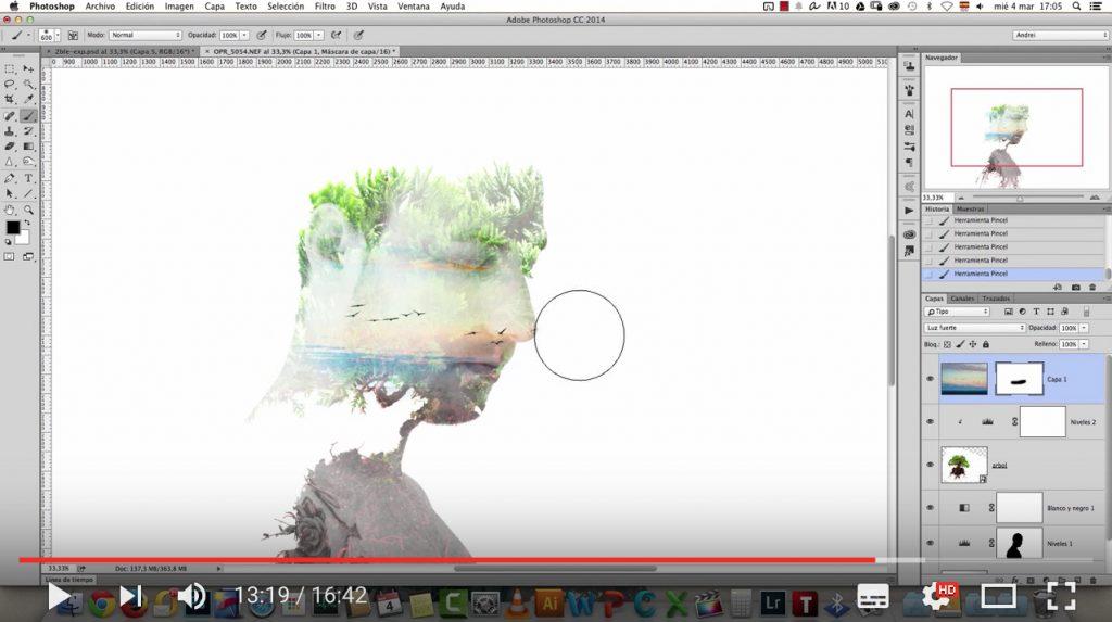 Cómo hacer el efecto doble exposición en Photoshop