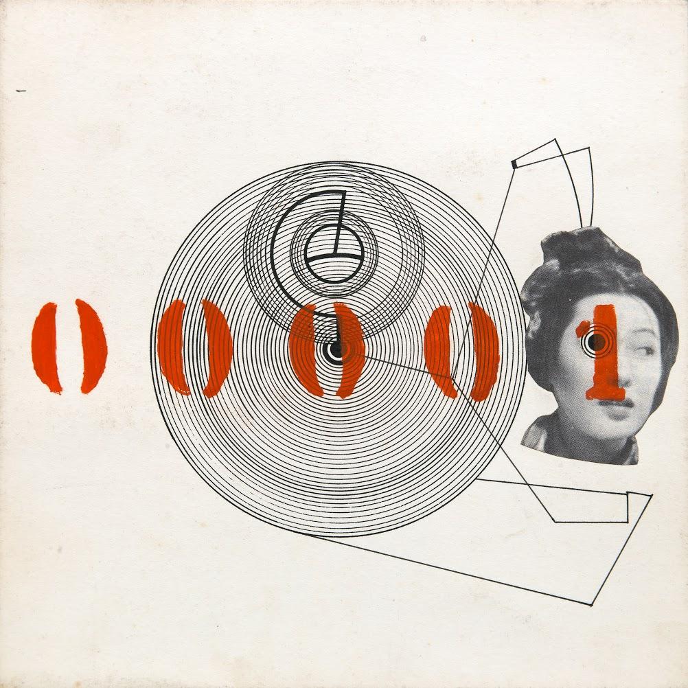 """Sin título de la serie """"00025 trabajos del Sr. E.A.V. (son públicos)"""", collage sobre papel."""