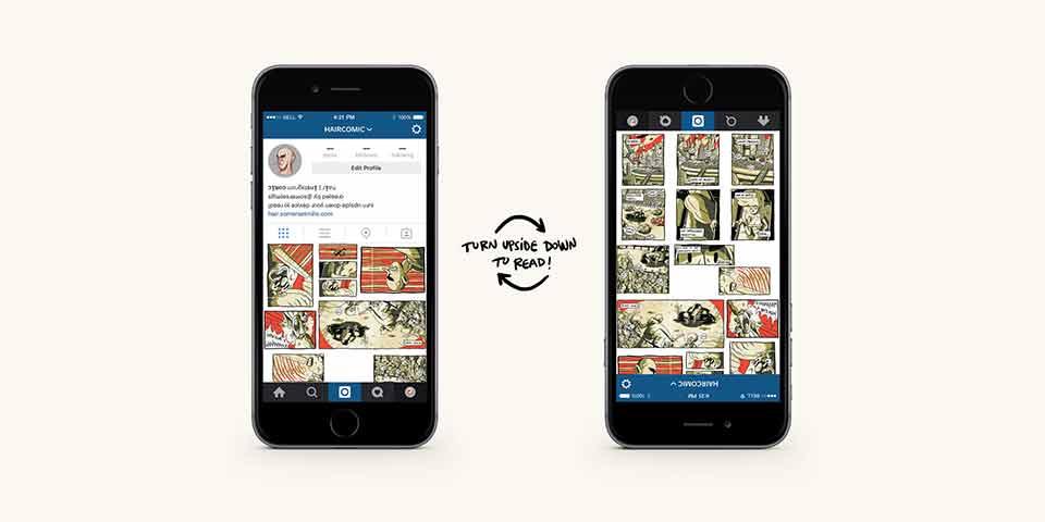 El nuevo modo de leer cómics: HAIR Comic en Instagram - en móvil