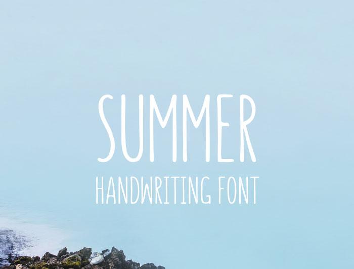 tipografías verano