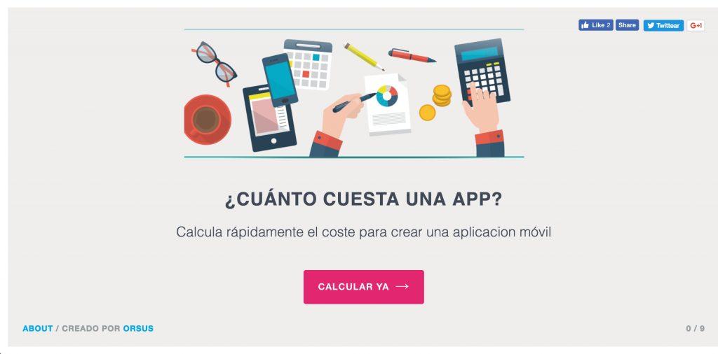 Calcula cuánto valdría diseñar una app