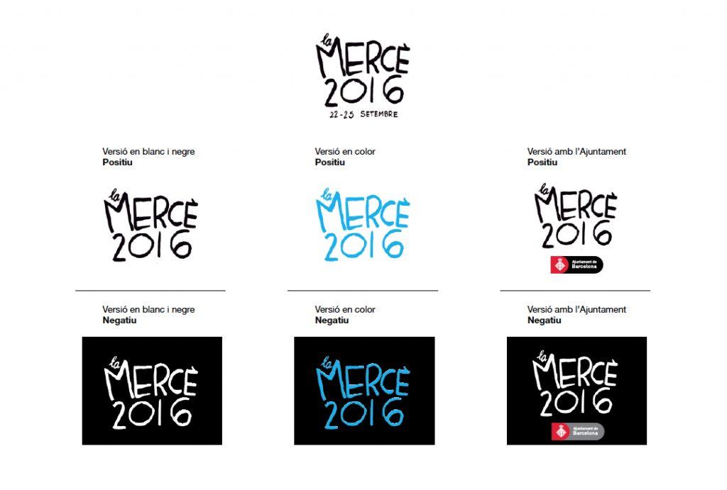 Logotipos La Mercé, por Miguel Gallardo