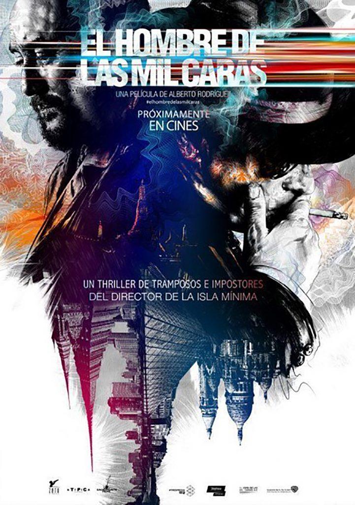 Cartel de la película 'El hombre de las mil caras' diseñado Gabriel Moreno