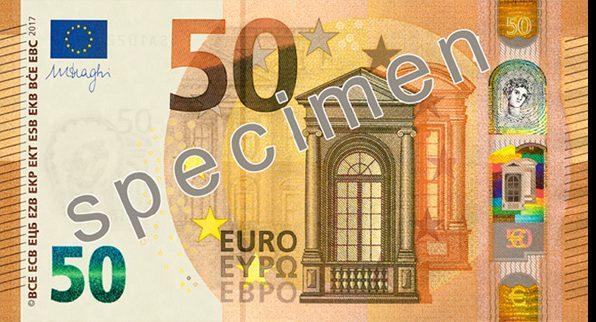 Billete nuevo de 50 € anverso