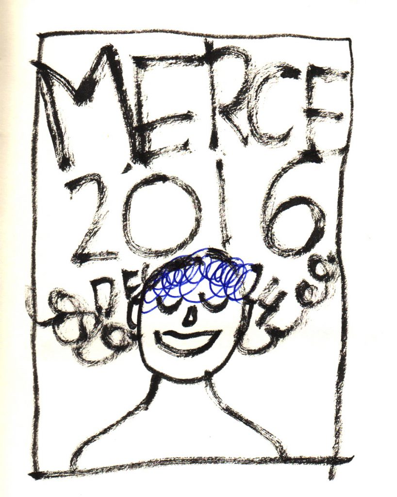 Cartel La Merce 2016 boceto