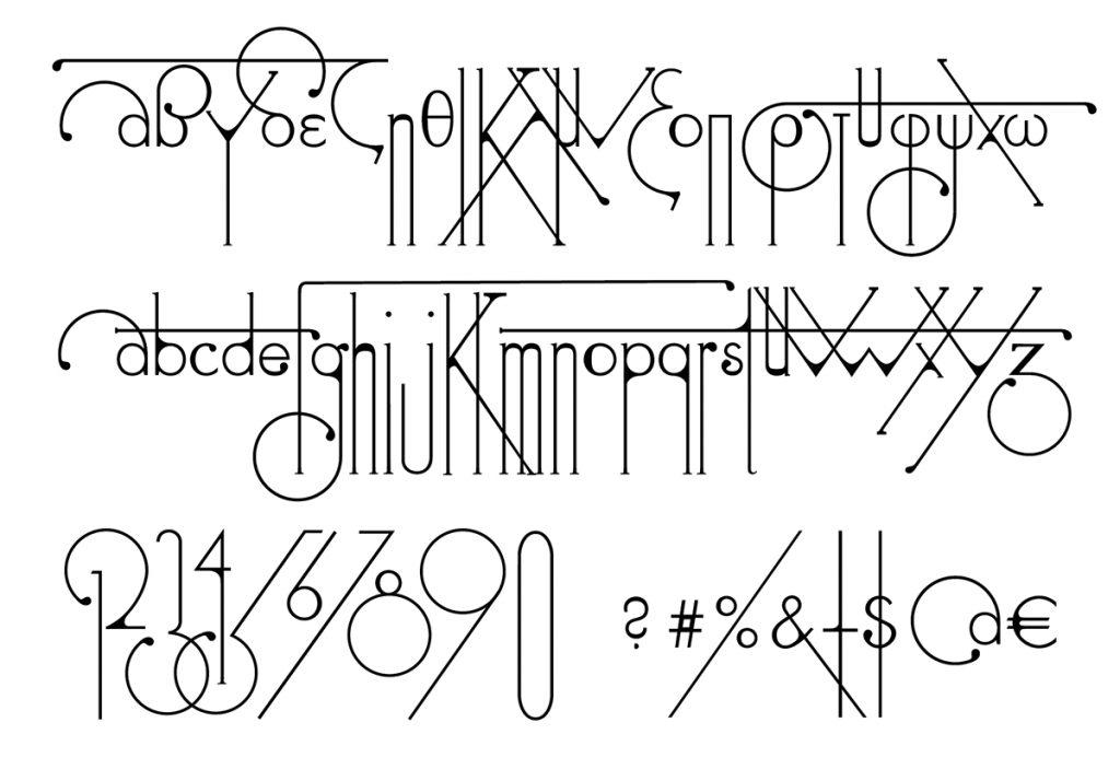 Futuracha, una tipografía art decó nacida de la Futura y la cucaracha - 2