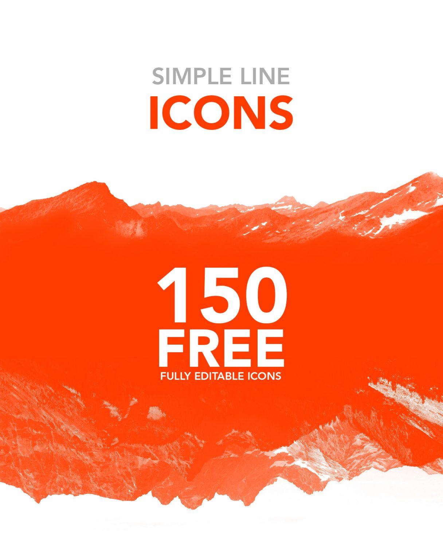 150 iconos editables y gratuitos diseñados por Juan Luís Valle