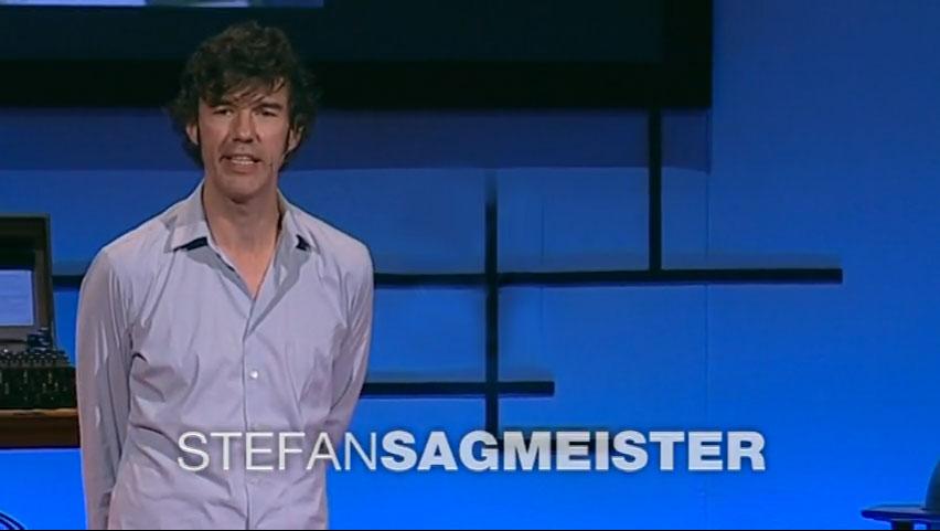 Stefan Sagmeister en TEDTalk