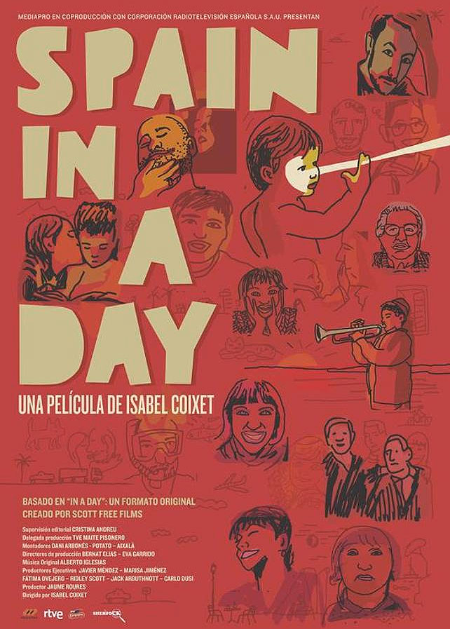 Spain in a Day - Cartel de Javier Mariscal
