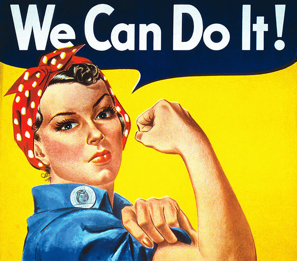 Fragmento del cartel 'We Can Do It!' de Howard Miller