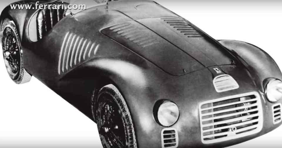 logotipo-ferrari-sobre-coche - quién diseñó el logo de Ferrari