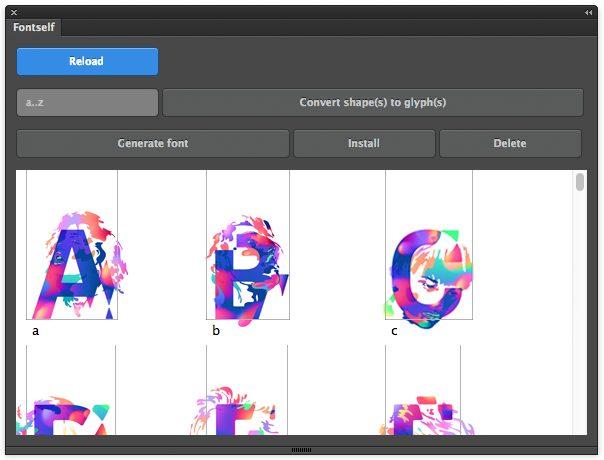 Fontself Maker como herramientas para el diseñador digital