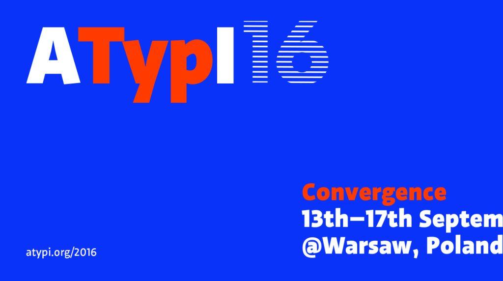 ATypI 2016, el evento tipográfico del año, recala en Varsovia -1