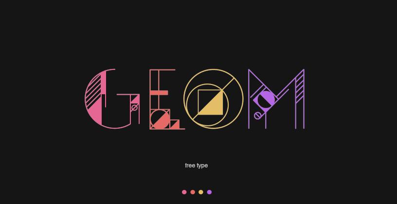 GEOM, la tipografía gratuita inspirada en la geometría pura y dura