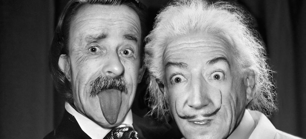 Albert Einstein y Salvador Dalí