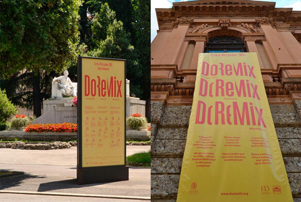 Teatro Donizetti Bérgamo - edificio de lejos1