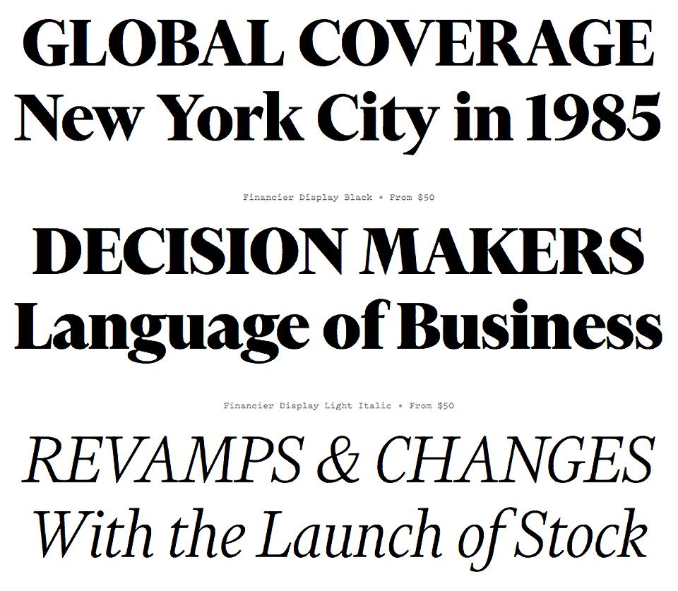 ¿Cómo es Financier, la nueva tipografía del Financial Times? - 3