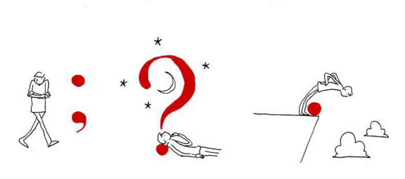 ¿Qué relación tiene el hombre con los signos de puntuación? Grant Snider nos lo ilustra - 6